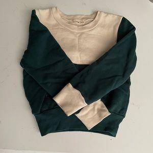 Fin & Vince 12/24 forest milk colorblock sweatshirt